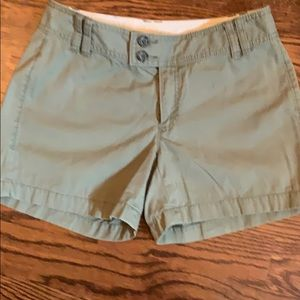 Banana Republic Army Green Chino Shorts
